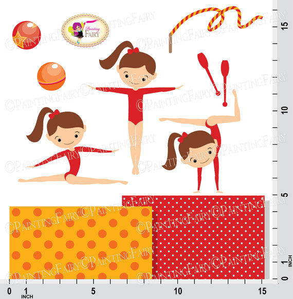 Gymnast clipart acrobatic gymnastics Gymnasts art Cute  Little