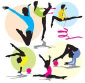 Gymnast clipart acrobatics Silhouettes Art Platform GoGraph Acrobatic