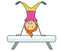 Gymnast clipart animated Clip Clipart Art  Gymnastics