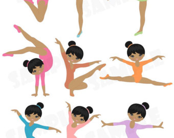 Gymnast clipart artistic gymnastics Panda Clipart Gymnastics And Clipart
