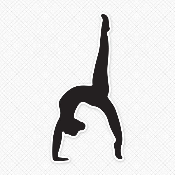 Gymnast clipart back tuck Silhouettes Black Pinterest best 28