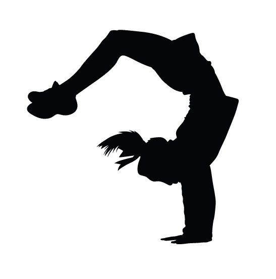 Gymnast clipart back tuck Wall Decal For images Window