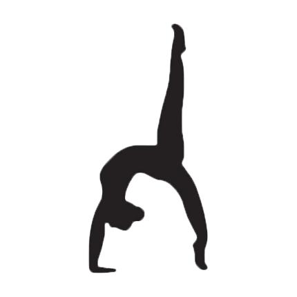 Gymnast clipart backbend Free Download Silhouettes Transparent Free
