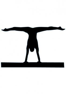 Shadow clipart gymnast #1