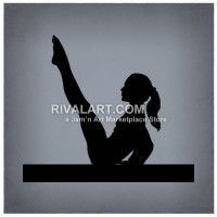 Gymnast clipart artistic gymnastics On of Silhouette Balance com