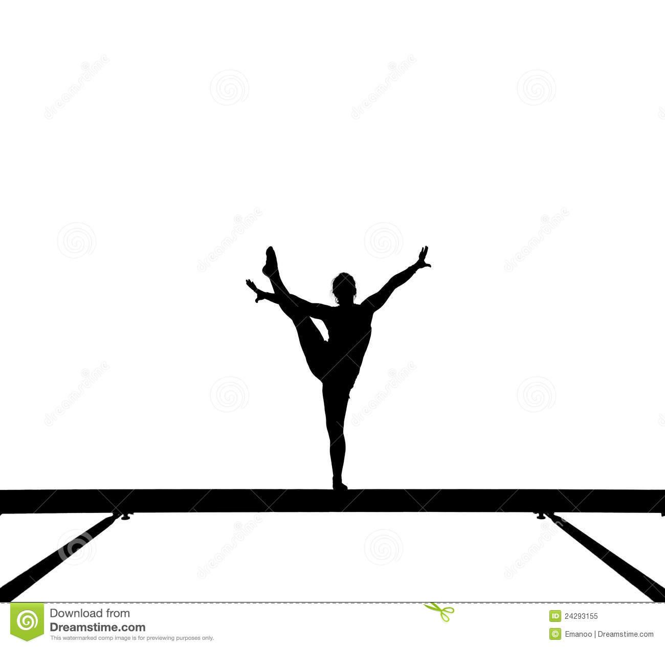 Gymnastics clipart balance beam Clipart Panda Clipart gymnastics%20clipart%20silhouette Gymnastics
