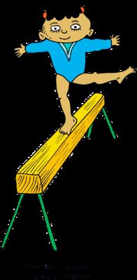 Gymnastics clipart balance beam Gymnast walking Clip a Balance