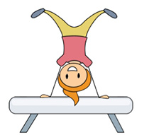 Gymnastics clipart balance beam  142 Kb beam balance