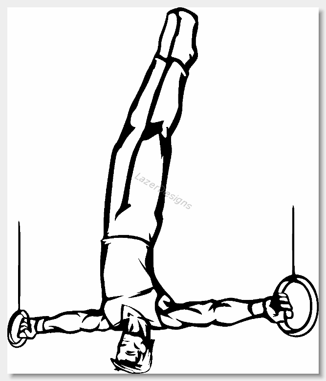 Gymnast clipart black and white White And black Gymnastics clipart