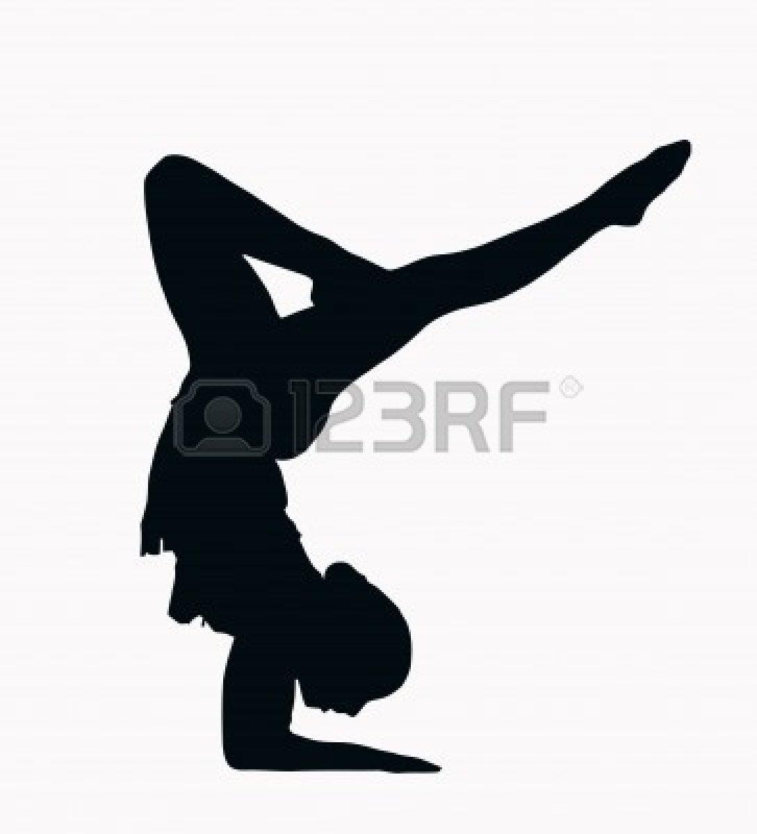 Gymnast clipart black and white Free Free Clipart White Gymnastics