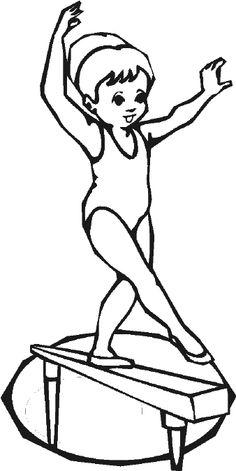Gymnast clipart black and white в sculpture for Clip gymnastics