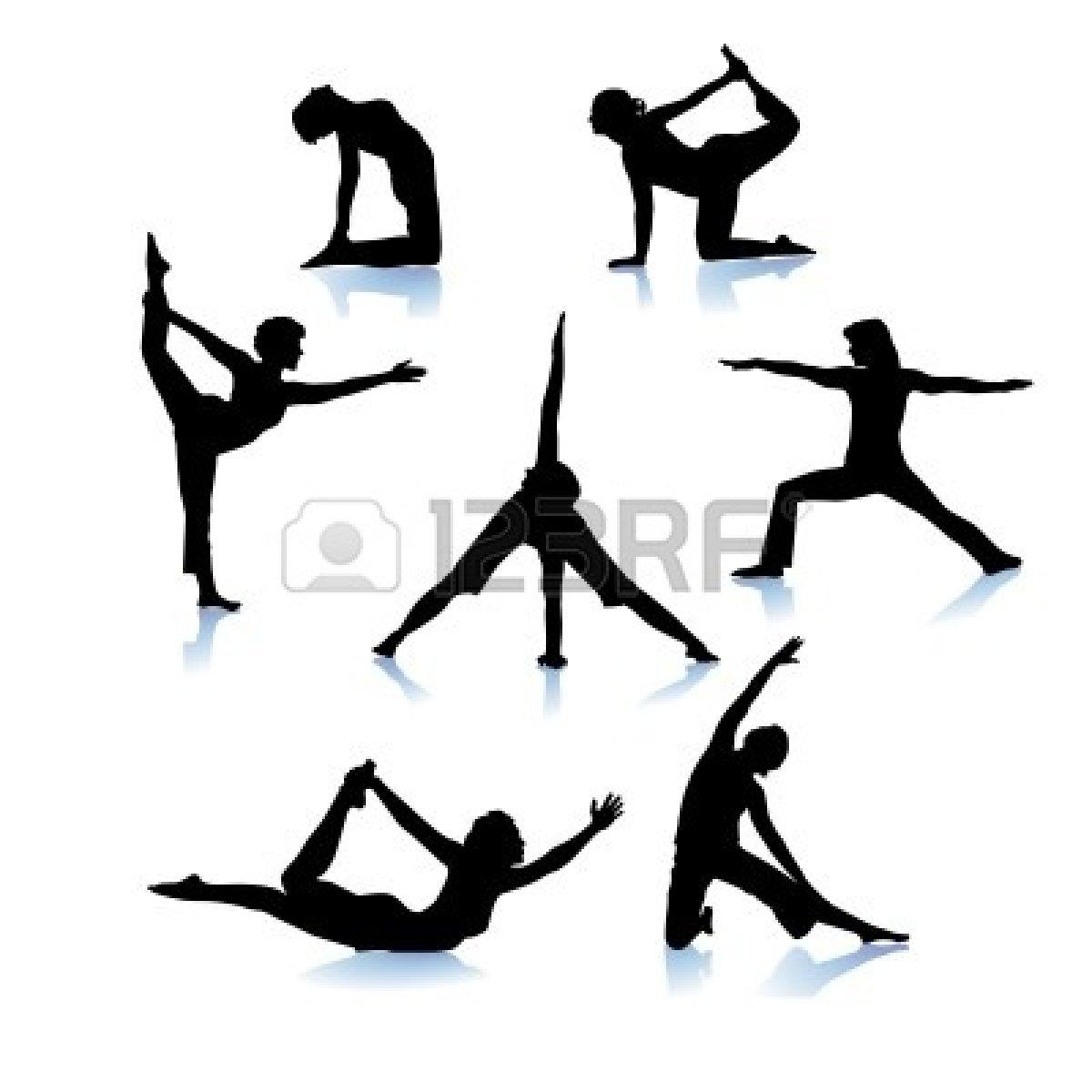 Gymnast clipart black and white  Black Clipart Panda Gymnastics