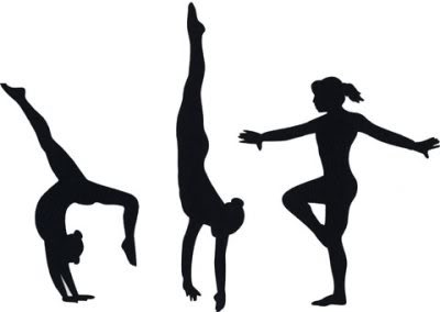 Gymnast clipart black and white Free 4 cliparts and Free