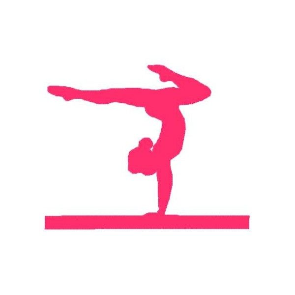 Gymnast clipart bodily kinesthetic Decals Silhouette gymnastics on leap