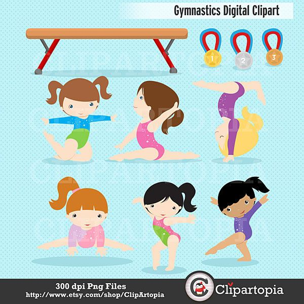 Gymnast clipart bodily kinesthetic  images Gymnastics SALE /