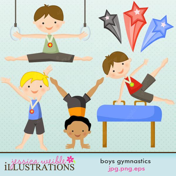Box clipart gymnastics Clip Gymnastics Party Boys Boys