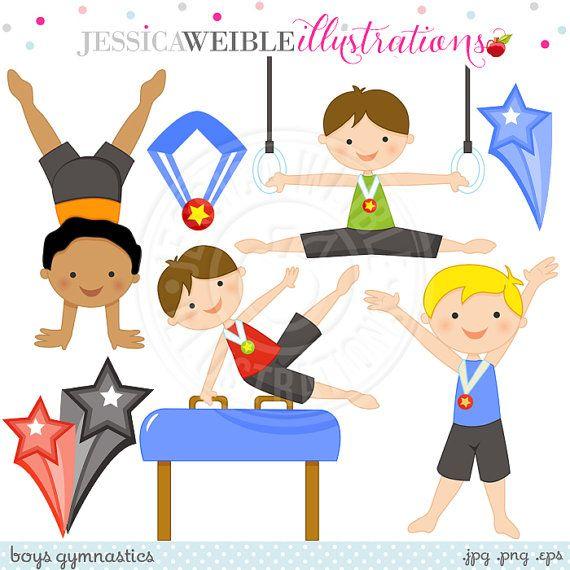 Gymnast clipart boys gymnastics Ideas Gymnastics Clip Digital Gymnastics
