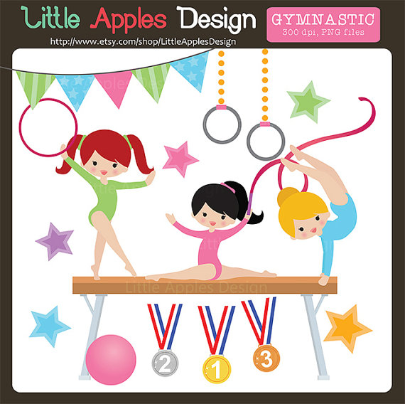 Gymnast clipart child yoga Art / Little Gymnastic Clipart