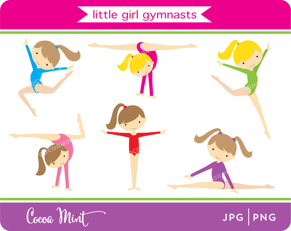 Gymnast clipart child gymnastics Clip Girl Gymnasts Little Art