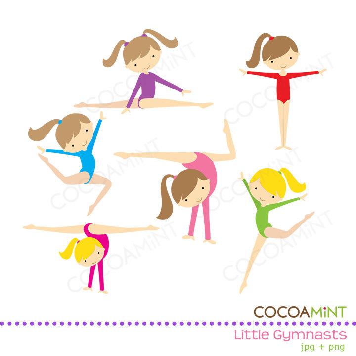 Gymnast clipart child gymnastics Gymnasts art Girl Gymnasts Art
