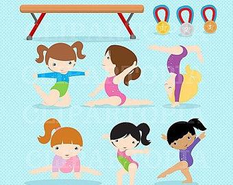Gymnast clipart children's Gymnastics Clipart Girls Girls /