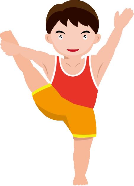 Gymnast clipart children's Boys Gymnastics Free Cliparts Download