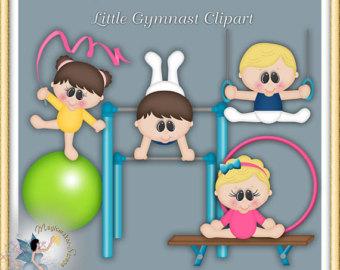 Gymnast clipart children's Clipart Etsy Gymnastics Gymnastics Clipart