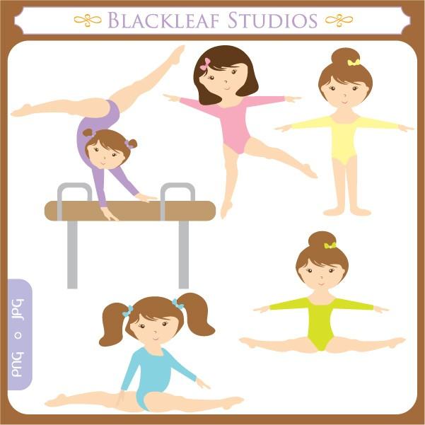 Gymnast clipart cute Download Girl clip Clip art