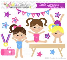 Gymnast clipart cute Commercial Pinterest tumblers Olímpica DOWNLOAD