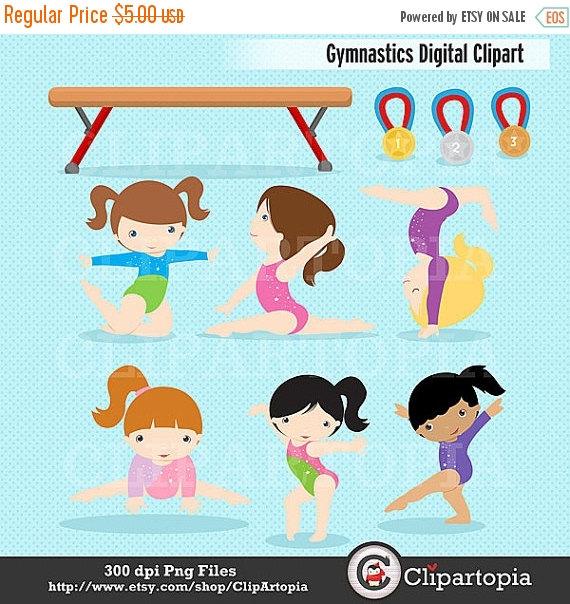Gymnast clipart cute Cute Commercial Gymnastics Clipart Gymnastics