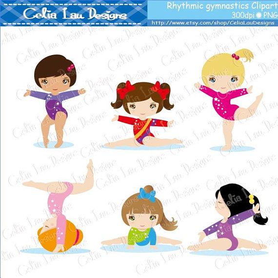 Gymnastics clipart cute · art Clip Gymnastics clip