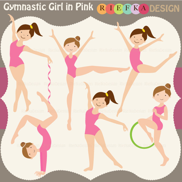 Gymnast clipart cute Clipart art gymnastics clip Cute