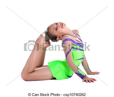 Gymnast clipart flexibility Kid Image and stretch Stock