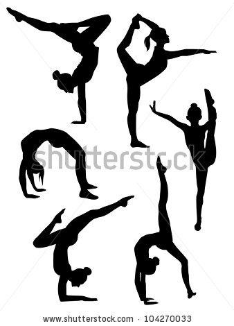 Gymnast clipart flexibility Clip illustration Download Vector Vector