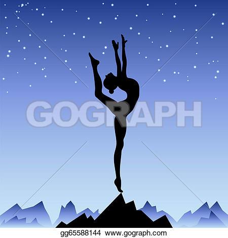 Beautiful clipart one Staying Vector flexible Art Beautiful