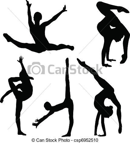Gymnast clipart flexibility Gymnastics  Panda Clipart Clipart