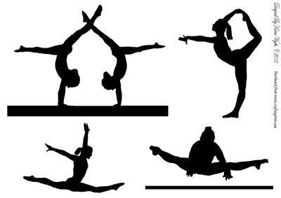 Shadow clipart gymnast #4