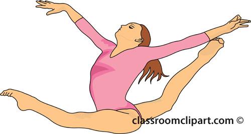 Pink clipart gymnastics Gymnastics sports clip clipart Clipartix