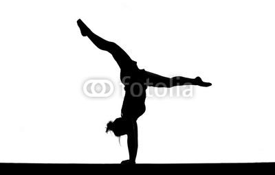 Gymnast clipart gymnastics handstand Clipart female Free of Panda