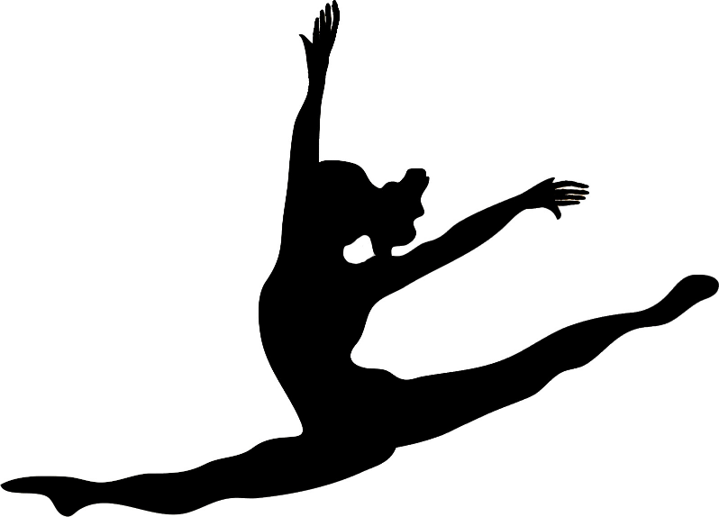 Gymnast clipart gymnastics handstand Silhou 38kBGymnastics Leap png Gymnastics
