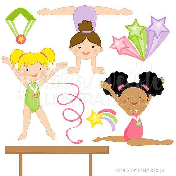 Gymnast clipart gymnastics handstand Gebrauch Clipart persönlichen Digital und