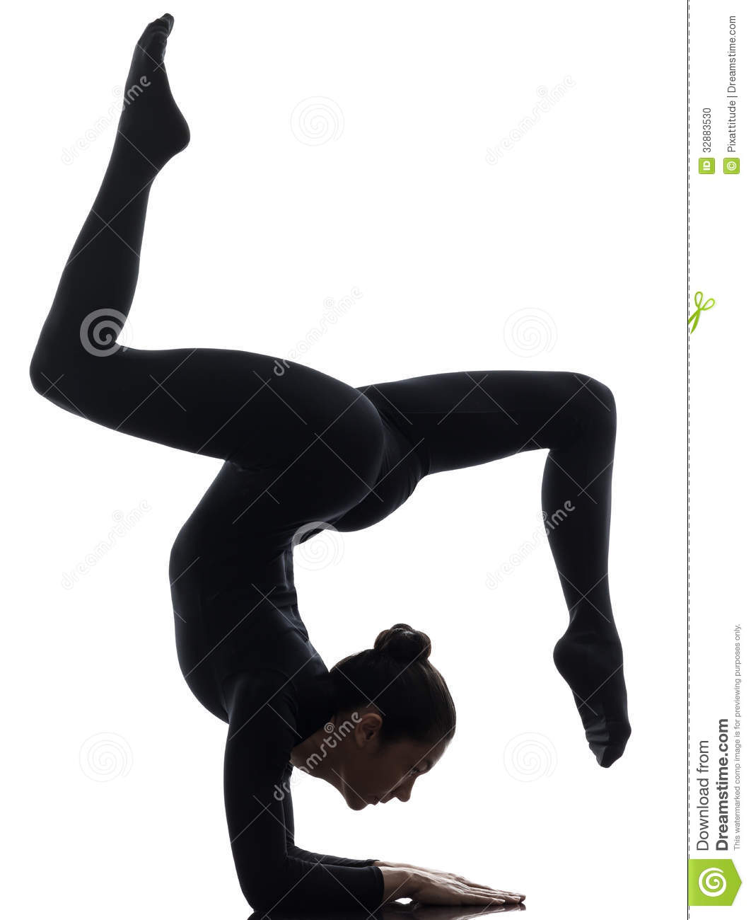 Gymnast clipart gymnastics handstand Images silhouette Clipart yoga Free