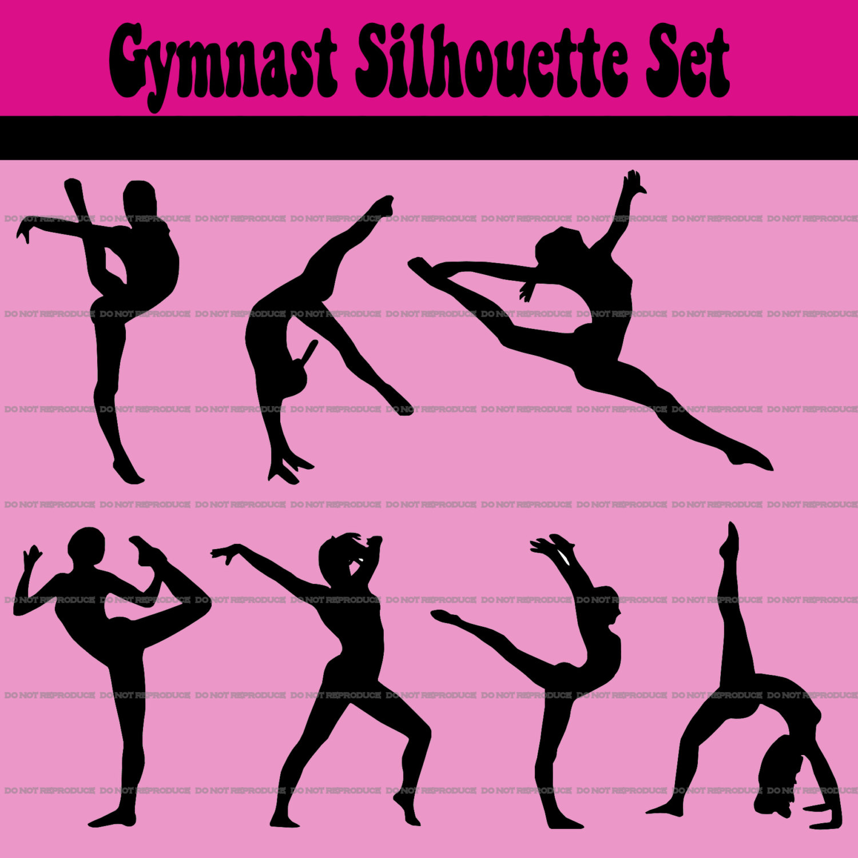 Gymnast clipart gymnastics moves  Cliparts Gymnast Free Free
