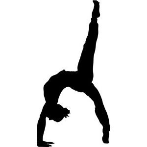 Gymnast clipart gymnastics moves Art images White and Performing