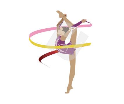 Gymnast clipart gymnastics moves Free Panda Clipart Clipart 20clipart
