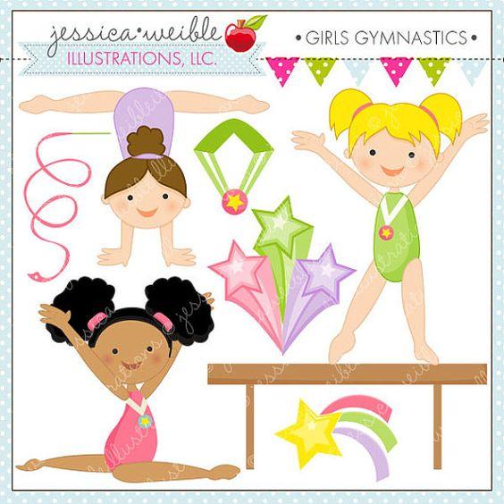Gymnast clipart gymnastics split And Personal Use and Gymnastic