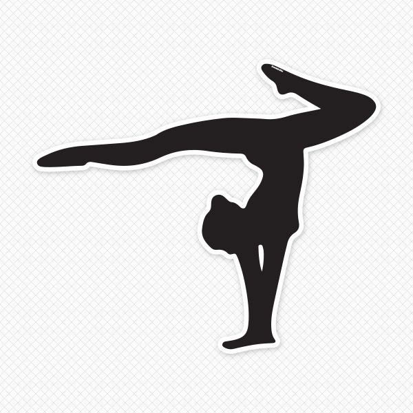 Gymnast clipart handstand Silhouette images Images best Clip