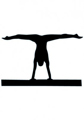 Gymnast clipart handstand Silhouette Clip 20 Silhouette 8
