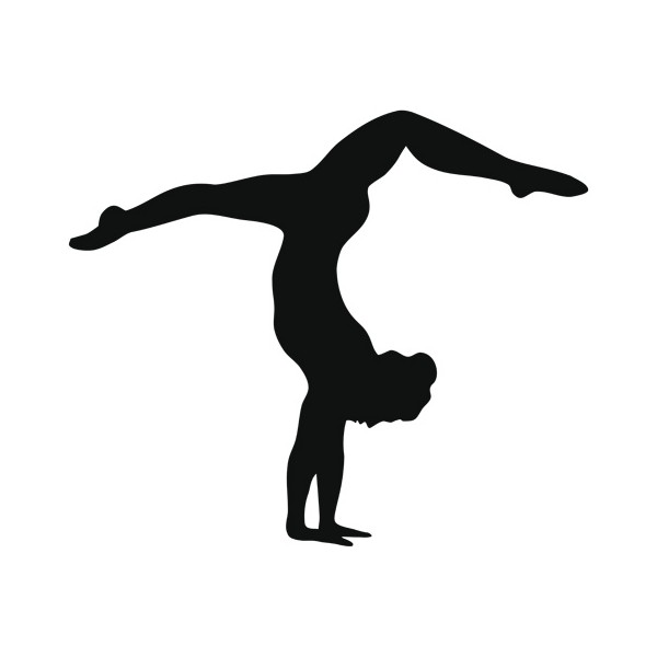 Gymnast clipart handstand Silhouette cliparts Handstand Clipart Handstand