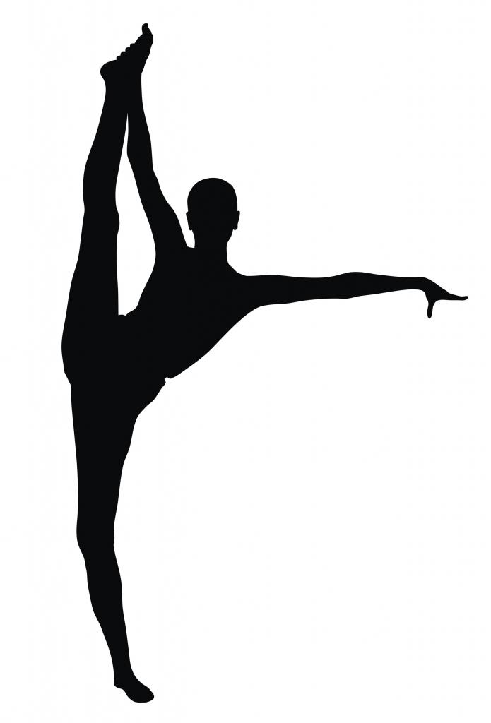 Gymnast clipart handstand Gymnastics Free Images Clipart Silhouette